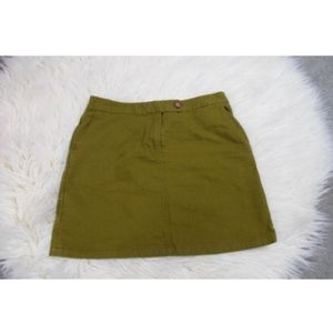 Anthropologie Vanessa Virginia Olive Green Skirt